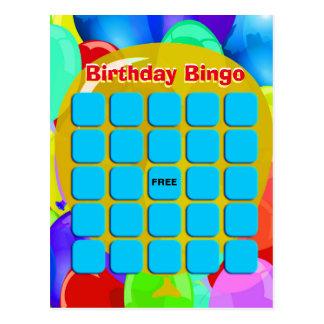 Globos del bingo el | del cumpleaños postal