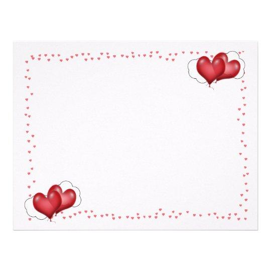 Globos del corazón con los pequeños corazones folleto 21,6 x 28 cm