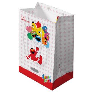 Globos del cumpleaños de Elmo y de los Pals Bolsa De Regalo Mediana