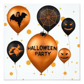 Globos del fiesta de Halloween - invitación