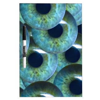 globos del ojo espeluznantes pizarra blanca