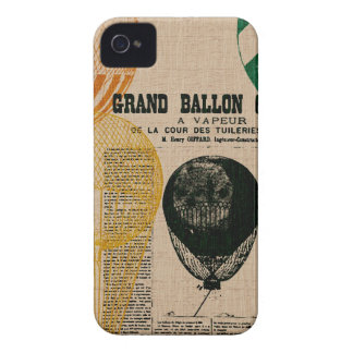 Globos del vintage iPhone 4 Case-Mate cárcasas