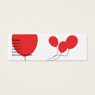 Globos rojos - flacos tarjeta de visita mini