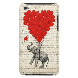 Globos románticos del elefante y del corazón Case-Mate iPod touch protector