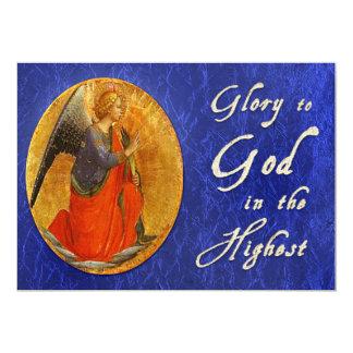 Gloria a dios en la tarjeta de Navidad más alta Invitación 12,7 X 17,8 Cm
