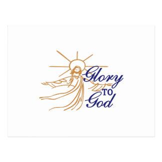 Gloria a dios postal