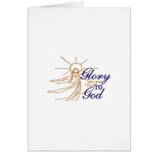 Gloria a dios tarjeta de felicitación