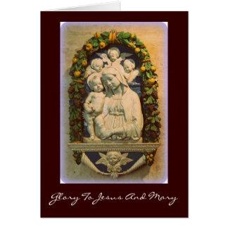 gloria a Jesús y a Maria Tarjeta De Felicitación