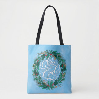 Gloria a la bolsa de asas del navidad de la