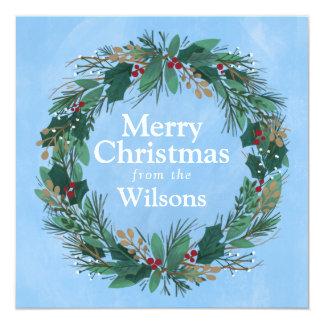 Gloria a la tarjeta de Navidad cuadrada de la