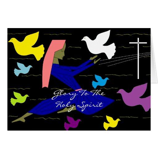 Gloria al Espíritu Santo Tarjetas