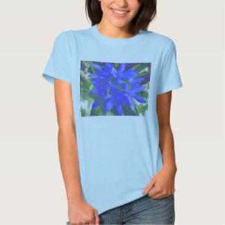Gloria de la camiseta azul fluorescente de las