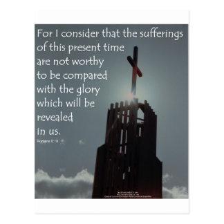 Gloria del 8:18 de los romanos que se revelará postal
