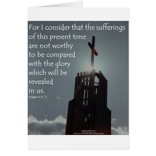 Gloria del 8:18 de los romanos que se revelará tarjetas