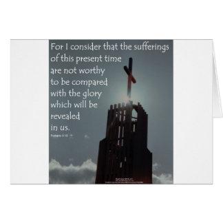 Gloria del 8:18 de los romanos que se revelará tarjeta de felicitación