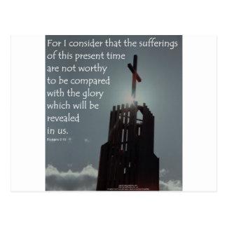 Gloria del 8:18 de los romanos que se revelará tarjeta postal
