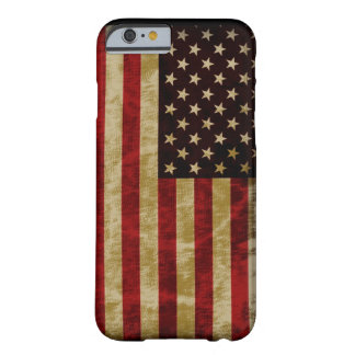 Gloria del estilo del Grunge vieja de la bandera Funda Para iPhone 6 Barely There