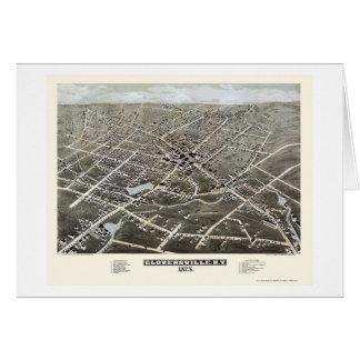 Gloversville mapa panorámico de NY - 1875 Tarjetas