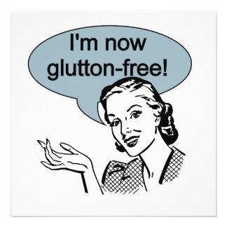 Glutton de dieta chistoso libremente anuncio