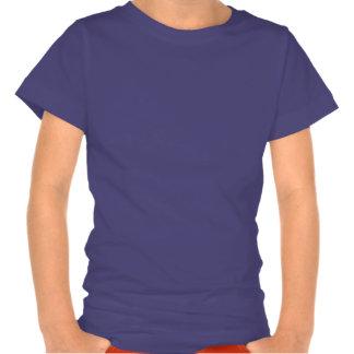 Gmnast rítmico con la camiseta de los chicas de la
