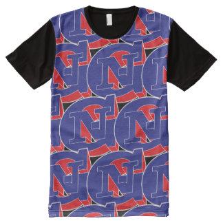 GN 3D por todo la camiseta de la impresión