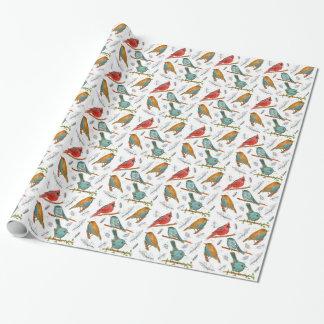 Gnatcatcher cardinal del Chickadee de los Papel De Regalo