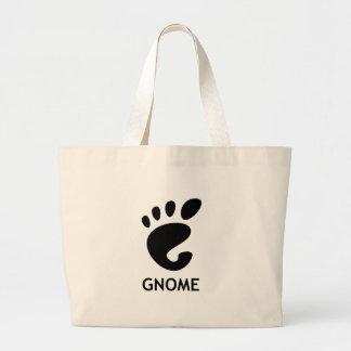 Gnomo (ambiente de escritorio) bolsa lienzo