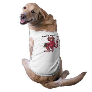 ¡Gnomo del mono - pequeño diablo Barkoween feliz! Camiseta Sin Mangas Para Perro