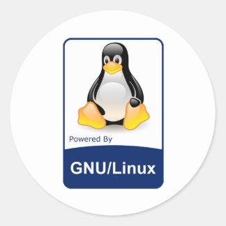 GNU/Linux Pegatina Redonda