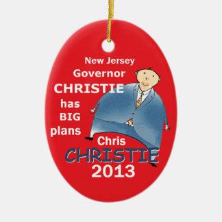 Gobernador 2013 de Christie Ornamento Para Arbol De Navidad