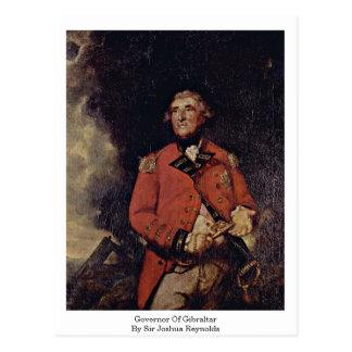 Gobernador de Gibraltar de sir Joshua Reynolds Postal