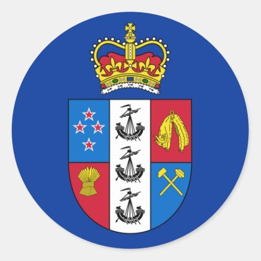 Gobernador-General de Nueva Zelanda, bandera de Nu Pegatina Redonda