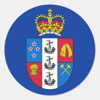 Gobernador-General de Nueva Zelanda, bandera de Pegatina Redonda