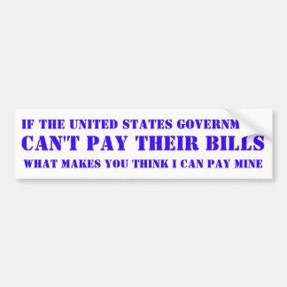 Gobierno de Estados Unidos Pegatina Para Coche