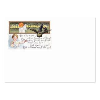 Goblin del búho del fantasma de la calabaza de la tarjetas de visita grandes