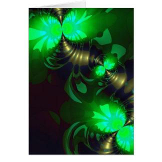 Goblin irlandés - cintas de la esmeralda y del oro tarjeta
