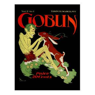 Goblin y conejo postal
