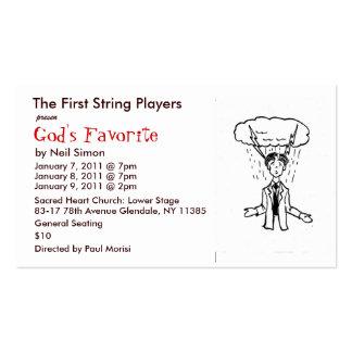 GodFav01 - Copie, los jugadores de la primera Tarjetas De Visita