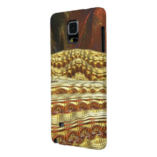GOLD MANDELBULB 3D de TODO EL REY. IMG DEL FRACTAL Funda Galaxy Note 4