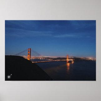 Golden Gate Bridge Night póster