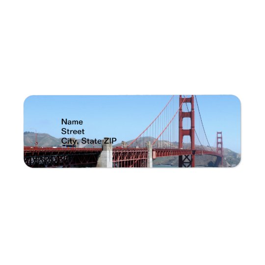 Golden Gate Etiquetas De Remite