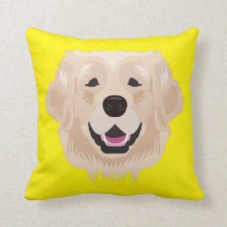 Golden retriever amarillo cojín decorativo