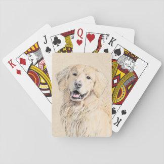 Golden retriever baraja de cartas