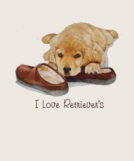 golden retriever lindo del perrito que abraza arte camisetas