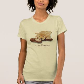 golden retriever lindo del perrito que abraza arte camiseta