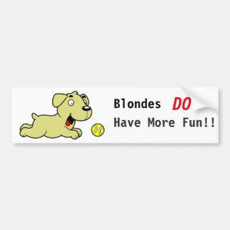 Golden retriever - los Blondes se divierten más Pegatina Para Coche