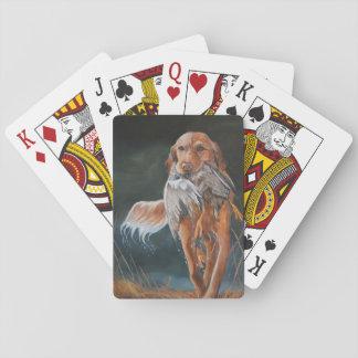 Golden retriever/naipes del arte del perro del baraja de cartas