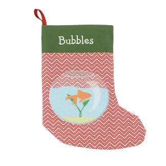 Goldfish del mascota personalizado calcetín de navidad pequeño