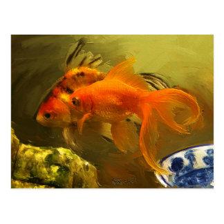Goldfish dos postal