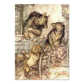 Goldilocks y las tres invitaciones de los osos invitación 12,7 x 17,8 cm